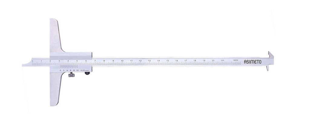 Vernier Depth Calipers With Double Hook
